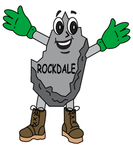 "Our mascot ""Rocky Rockman"""